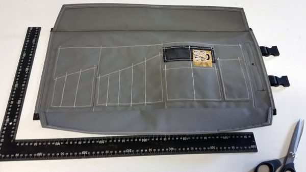 Grey motorcycle tool roll