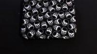 Metallic Skulls on Black