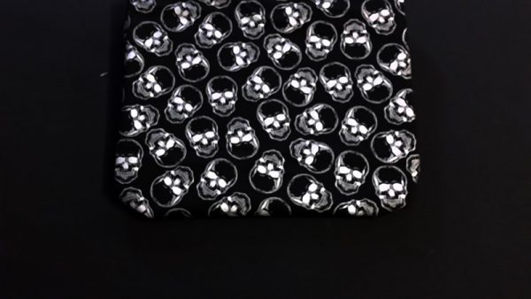 Metallic Skulls on Black